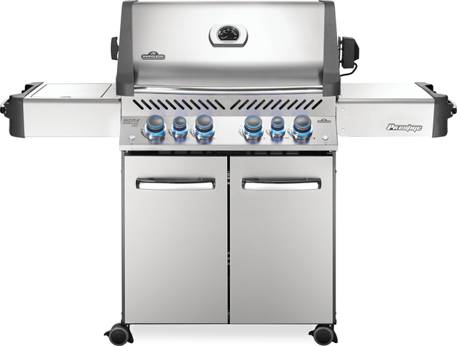 """Napoleon Prestige® Series 66.25"""" Stainless Steel Free Standing Grill-P500RSIBNSS3-15-7956"""