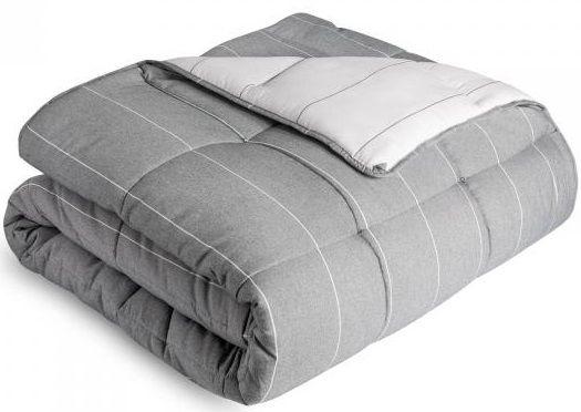 Malouf® Sleep Chambray Flint Oversized Queen Comforter Set-MA90OQFTMICO