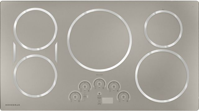 """Monogram® 36"""" Silver Induction Cooktop-ZHU36RSPSS-12-056G"""