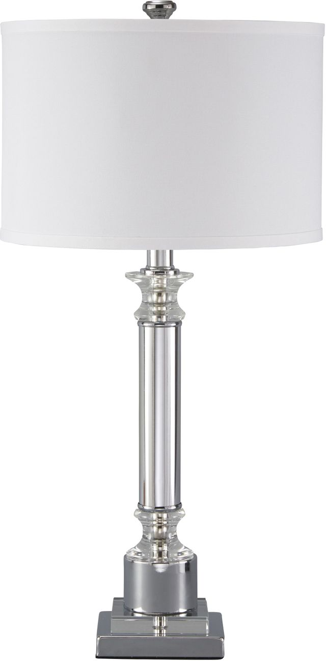 Signature Design by Ashley® Marlon Clear/Silver Finish Metal Table Lamp-L428044
