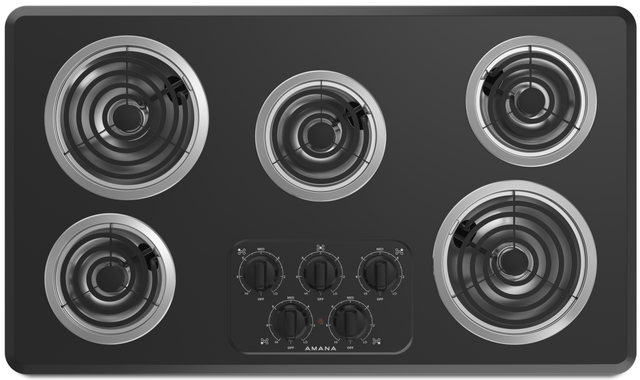 "Amana® 36"" Electric Cooktop-Black-ACC6356KFB"