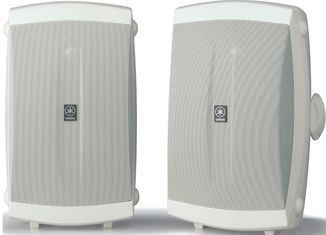 """Yamaha NS-AW350 White 6.5"""" High Performance Outdoor 2-Way Speakers-NS-AW350W"""