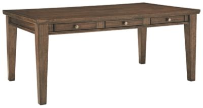 Signature Design by Ashley® Flynnter Medium Brown Rectangular Dining Room Table-D719-25
