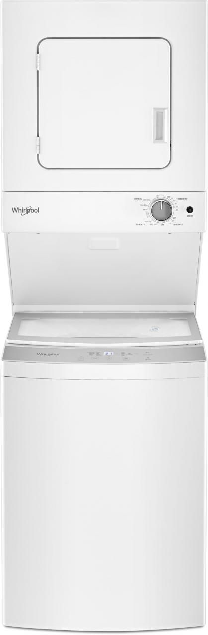 Whirlpool® Electric Stacked Laundry-White-WET4124HW