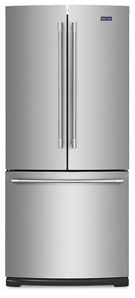Maytag® 19.6 cu ft Fingerprint Resistant Stainless Steel French Door Refrigerator-MFB2055FRZ