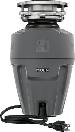 Moen® EX Series 0.5 HP Continuous Feed Black Garbage Disposal-EX50C