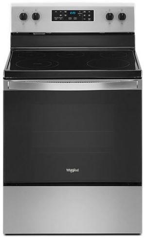 "Whirlpool® 30"" Fingerprint Resistant Stainless Steel Free Standing Electric Range-WFE505W0JZ"