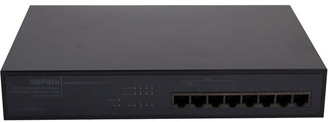 Pakedge® Device & Software Inc 8 Port Gigabit Unmanaged Power Over Ethernet Switcher-S8P4fe