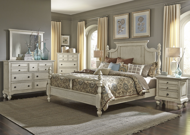 Liberty High Country Bedroom King Poster Bed, Dresser, Mirror, Chest and Night Stand Collection-697-BR-KPSDMCN