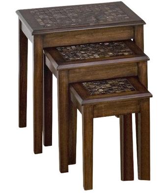 Jofran Inc. Baroque Brown Nesting Chairside Table-698-7