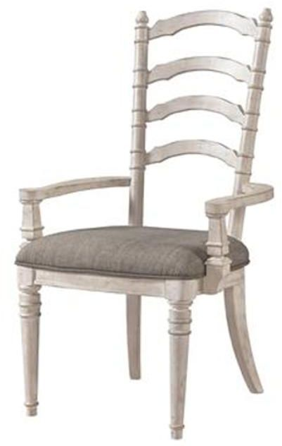 Riveriside Furniture Elizabeth Upholstered Ladderback Arm Chair-71659