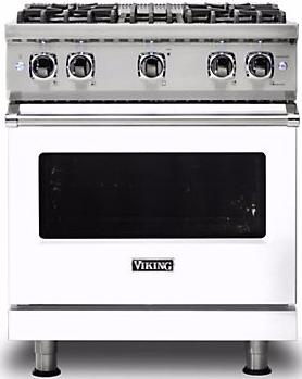 "Viking® Professional 5 Series 30"" Pro Style Gas Range-White-VGR5304BWH"