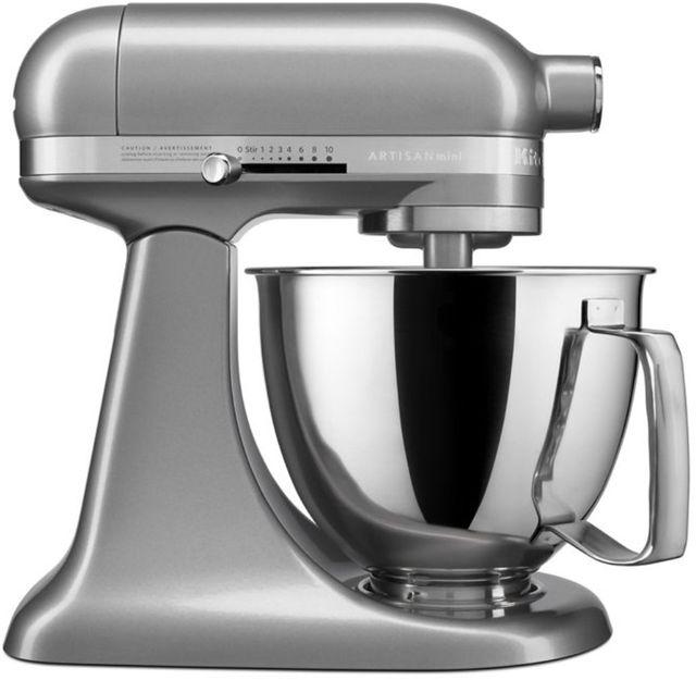 KitchenAid® Artisan® Mini Contour Silver 3.5 Quart Stand Mixer-KSM3316XCU