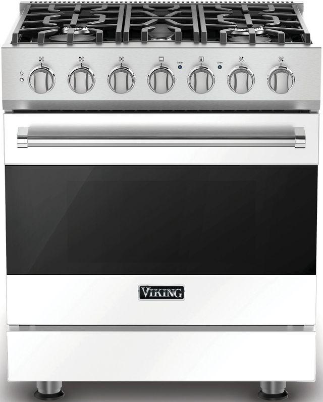 """Viking® 3 Series 30"""" Freestanding Gas Range-White-RVGR33025BWH"""