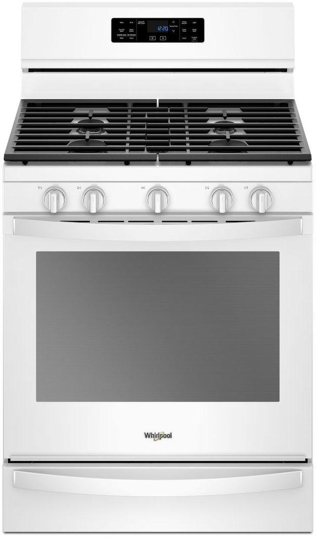 """Whirlpool® 30"""" Freestanding Gas Range-White-WFG775H0HW"""
