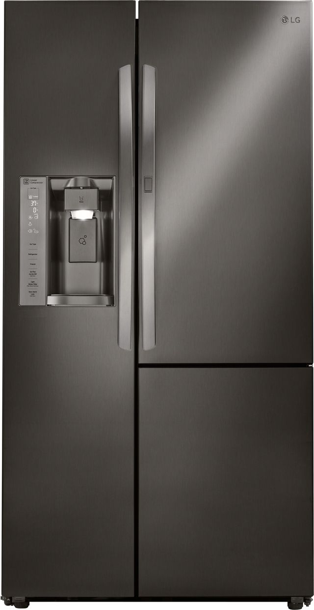 LG 26.1 Cu. Ft. Black Stainless Steel Side-By-Side Refrigerator-LSXS26366D