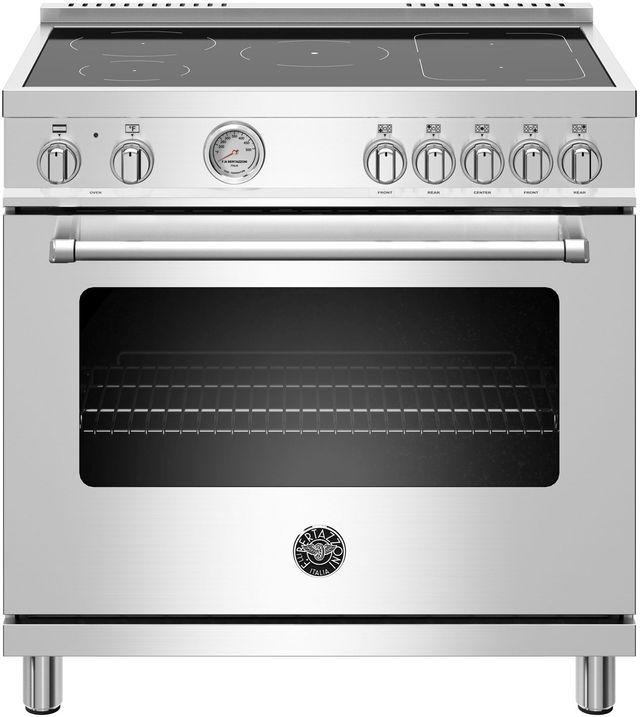 Cuisinière électrique autoportante de 5,9 pi³ Bertazzoni® de 36 po - Acier inoxydable-MAST365INMXE