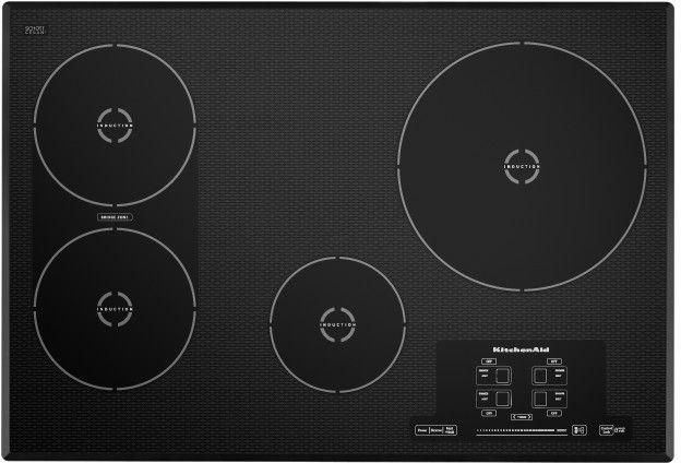 "KitchenAid® Architect® Series II 30"" Black Induction Cooktop-KICU509XBL"