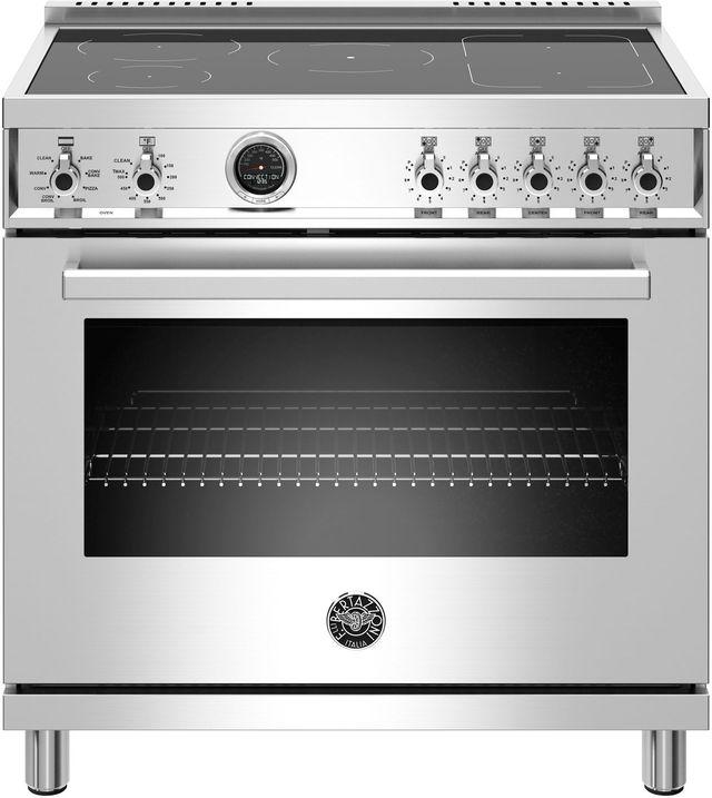 Cuisinière électrique autoportante de 5,7 pi³ Bertazzoni® de 30 po - Acier inoxydable-PROF365INSXT