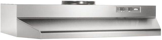 """Broan® 42000 Series 24"""" Stainless Steel Under Cabinet Range Hood-422404"""