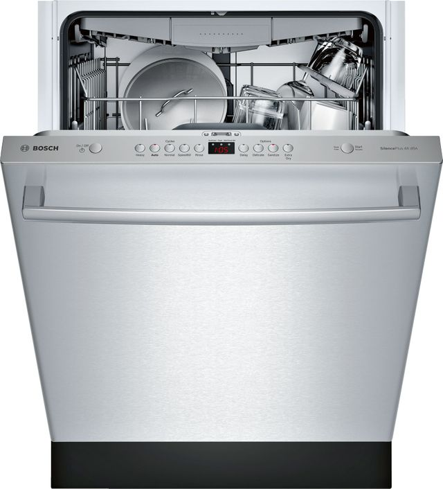 "Bosch 100 Series 24"" Stainless Steel Built In Dishwasher-SHXM4AY55N"