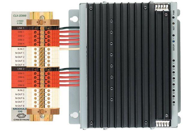 Crestron® 8 Channel Dimmer Module-International Version-CLXI-2DIM8