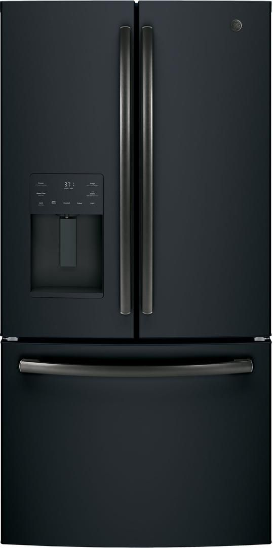 GE® 25.6 Cu. Ft. French Door Refrigerator-Black Slate-GFE26JEMDS