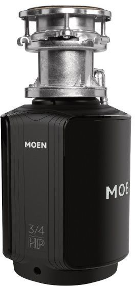Moen® GX Series 0.75 HP Batch Feed Black Garbage Disposal-GXB75C