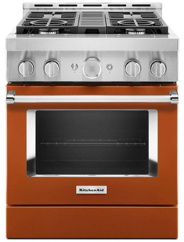 "KitchenAid® 30"" Scorched Orange Smart Commercial-Style Gas Range-KFGC500JSC"