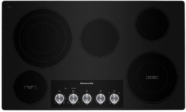 """KitchenAid® 36"""" Stainless Steel Electric Cooktop-KCES556HSS"""