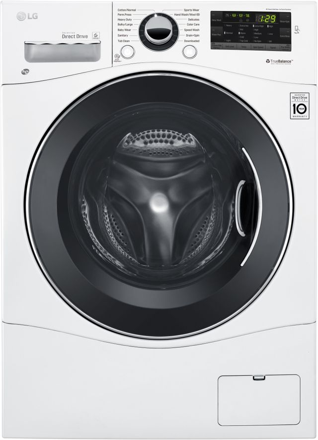 LG 2.3 Cu. Ft. White Front Load Washer-WM1388HW