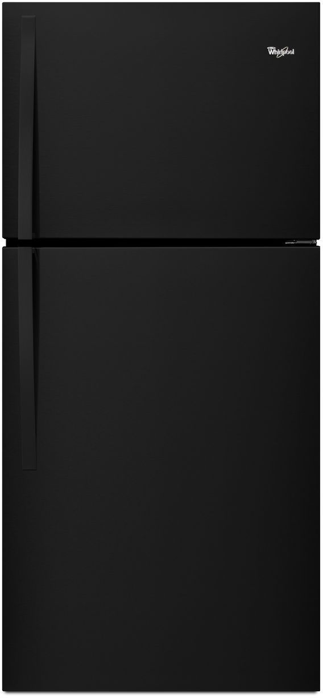 Whirlpool® 18.2 Cu. Ft. Top Freezer Refrigerator-Black-WRT318FZDB