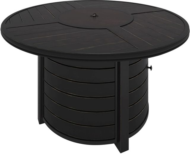 Signature Design by Ashley® Castle Island Dark Brown Round Fire Pit Table-P414-776
