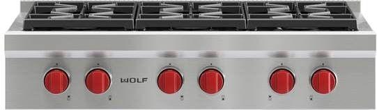 "Wolf® 36"" Pro-Style Gas Rangetop-SRT366"