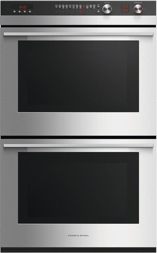 """Fisher Paykel 29.91"""" Brushed Stainless Steel Electric Built in Double Oven-OB30DTEPX3 N"""