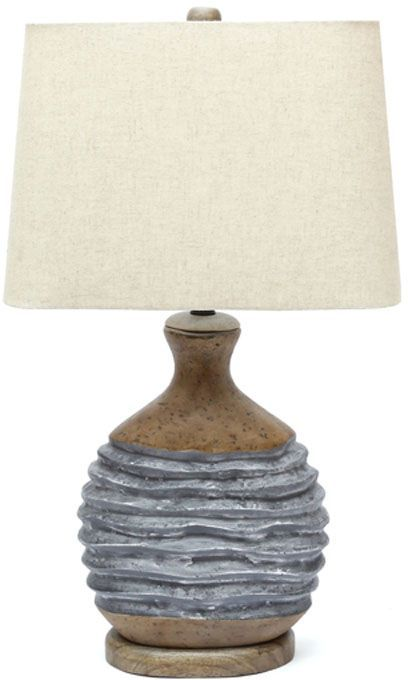 Signature Design by Ashley® Medlin Gray/Beige Paper Table Lamp-L235644