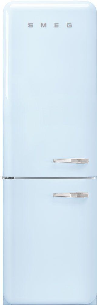 Smeg 50's Retro Style Aesthetic 11.69 Cu. Ft. Pastel Blue Bottom Freezer Refrigerator-FAB32ULPB3