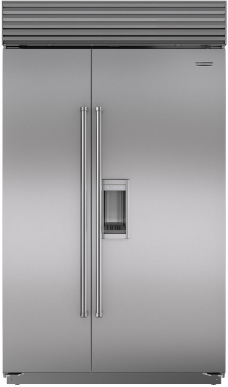 Sub-Zero® 28.4 Cu. Ft. Built In Side By Side Refrigerator-Stainless Steel-BI-48SD/S/PH