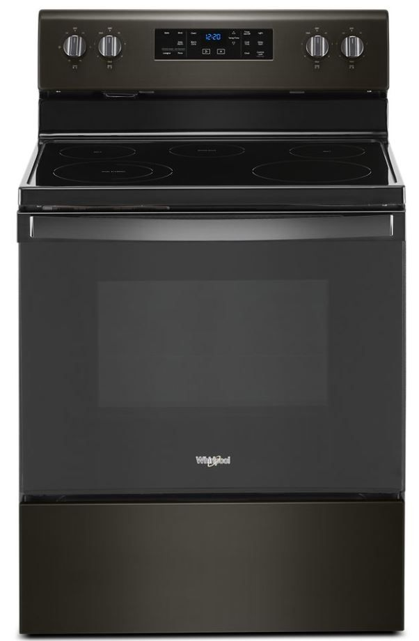 """Whirlpool® 30"""" Black Stainless Free Standing Electric Range-WFE525S0JV"""