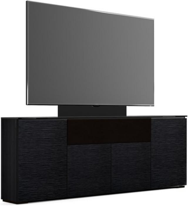 Salamander Designs® Chameleon Chicago Low Profile 345 with TV Mount Black Oak Speaker Integrated Cabinet-C1/CH345M/BO