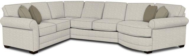 England Furniture Co. Brantley 4 Piece Culpepper Snow/Alvarado Mineral/Go Fish Seaweed Sectional-5630-28-22-43-95+8613+8626+8601