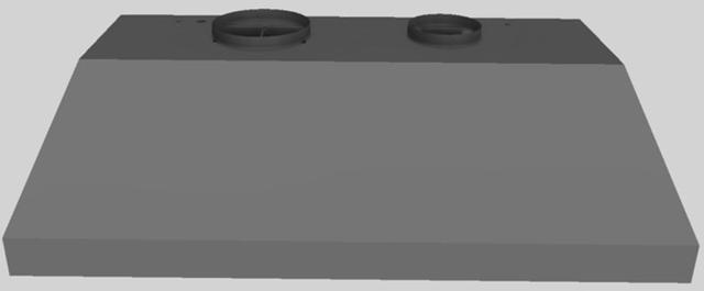"""Vent-A-Hood® 46.38"""" Wall Mounted Liner Insert-Gunsmoke-BH346PSLD GS"""