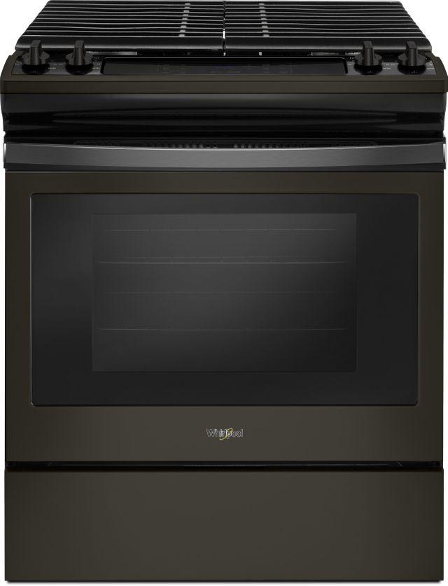 """Whirlpool® 30"""" Slide In Gas Range-Fingerprint Resistant Black Stainless-WEG515S0FV"""