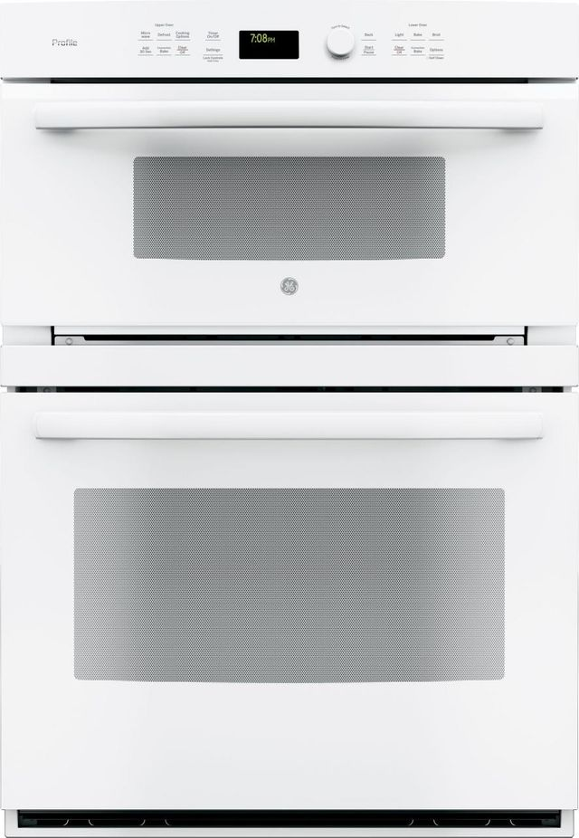 """GE Profile™ 29.75"""" White Electric Built In Combination Microwave/Oven-PT7800DHWW"""