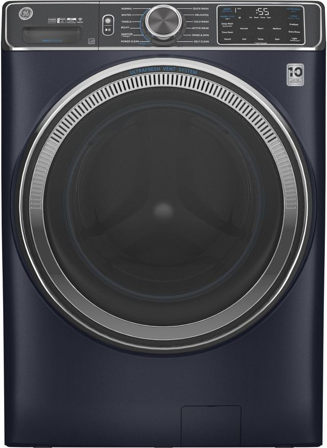 GE® 5.0 Cu. Ft. Sapphire Blue Smart Front Load Washer-GFW850SPNRS