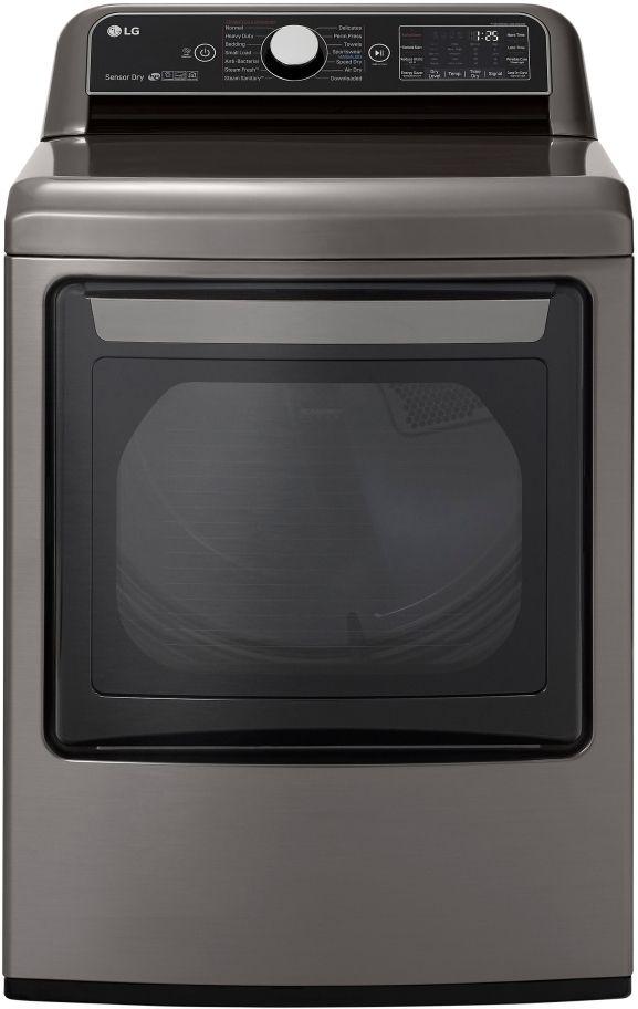 LG 7.3 Cu. Ft. Graphite Steel Front Load Gas Dryer-DLGX7801VE
