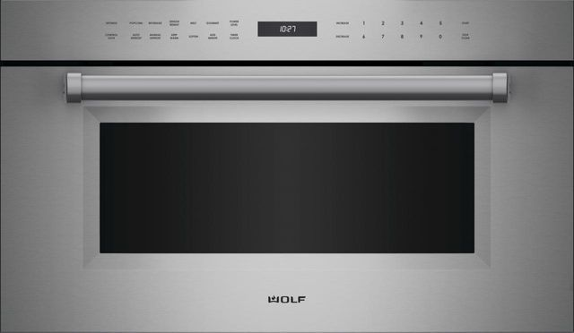 """Wolf® M Series Professional 30"""" Stainless Steel Built In Microwave Oven-MDD30PM/S/PH"""