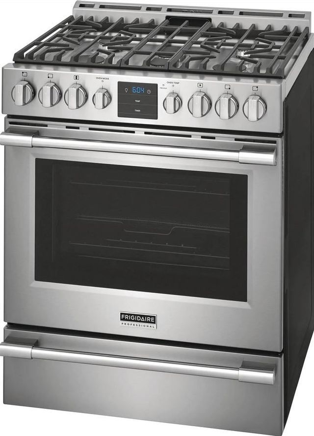 """Frigidaire Professional® 30"""" Stainless Steel Pro Style Natural Gas Range-PCFG3078AF"""