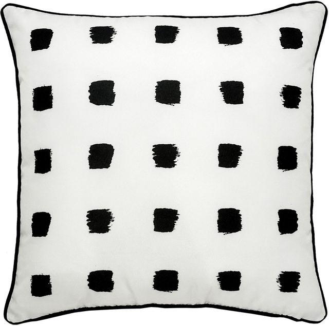 Coussin d'extérieur Rockhill, noir et blanc, Renwil®-PWFLO1006