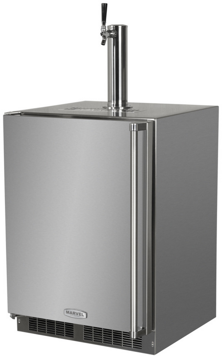 Marvel Outdoor Single Tap Built In Beer Dispenser-Stainless Steel-MO24BSS2LS